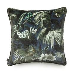 Limerence Large velvet cushion, 60 x 60cm, navy