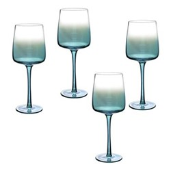 Atrium Set of 4 wine glasses, 46cl, green