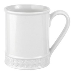 Botanic Garden Harmony Set of 4 tankard mugs, 34cl, white