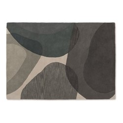 Holt Large wool rug, H160 x W230m, grey and teal