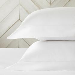 300 Thread Count Egyptian Cotton Sateen Oxford pillowcase, 50 x 75cm, White