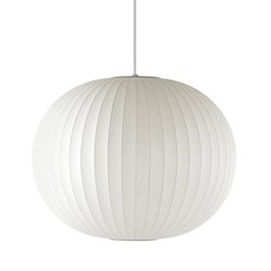 Ball Medium pendant lamp, W48 x H39.5cm, white