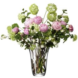 Flower Open bouquet vase, 23cm, clear