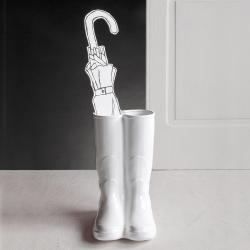 Rainboots Vase/umbrella stand, H36 x 27 x 20cm, white