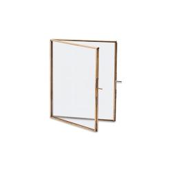 "Danta Folded portrait frame, 8 x 10"", Antique Brass"