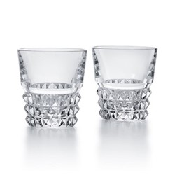 Louxor Pair of tumblers, H9.6cm - 27cl, clear