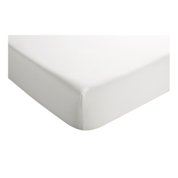400 Thread Count Sateen Deep king size fitted sheet, L150 x W200 x D36cm, White