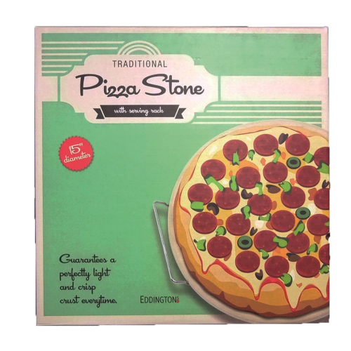 Traditional pizza stone, 41 x 41cm, Natural