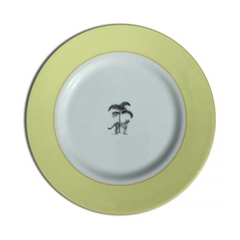 Harlequin - Yellow Cheetah Dessert plate, 21cm, yellow