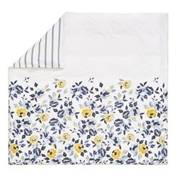 Galley Grade Floral Super king size duvet cover, L220 x W260cm, chalk