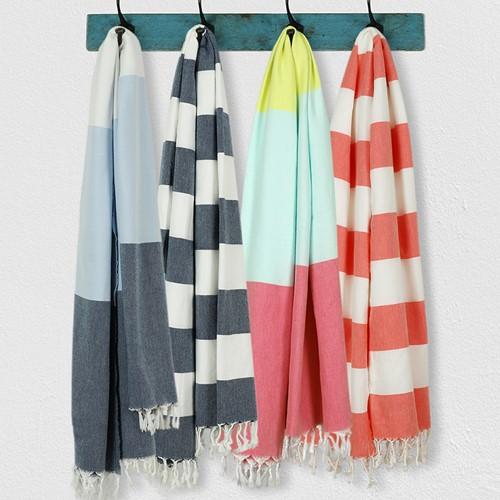 Lightweight Beach towel, 95 x 160cm, Blue
