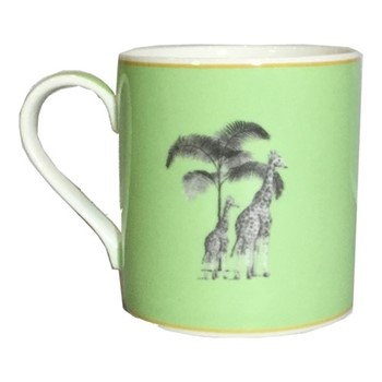 Harlequin - Green Giraffe Mug, green