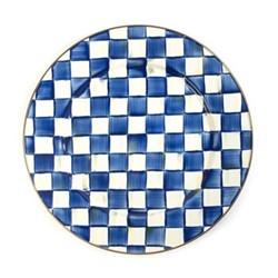 Royal Check Serving platter, D40.64cm, blue & white