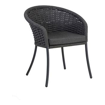 Cordial Dining armchair, H82 x W70 x D64cm, grey