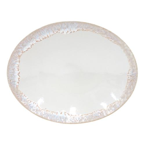 Taormina Oval platter, 41cm, white