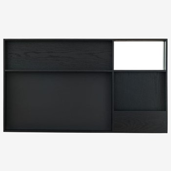 Arca By David Irwin Large wall box, W105 x L60 x D8cm, black stain