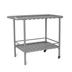 Drinks trolley, H70 x W80 x D45cm, charcoal steel