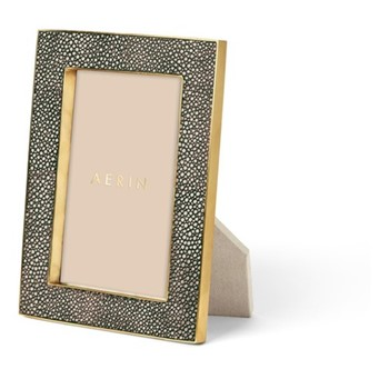 "Classic Shagreen Photograph frame, 4 x 6"", chocolate"