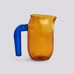 Jochen Holz Glass jug, H16.5 x L10 x W10cm, amber