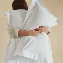 Soft & Smooth Luxury - 600 TC Pair of oxford pillowcases, W52 x L77cm, white