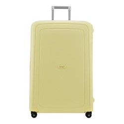 S'Cure Spinner suitcase, 81 x 55 x 35cm, pastel yellow stripes