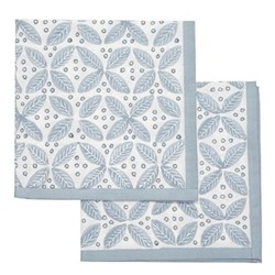 Berry Set of 4 napkins, 45 x 45cm, blue cotton