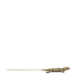 Gecko Letter opener, 24cm, Gold-Plated