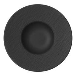 Manufacture Rock Pasta plate, D29cm, black