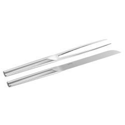 Living Carving knife and fork, stainless steel