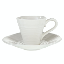 Ceramics Pair of espresso cup and saucers, 8cl, White