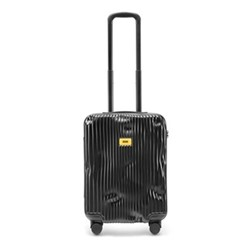 Stripe Cabin suitcase, H55 x W40 x D20cm, black