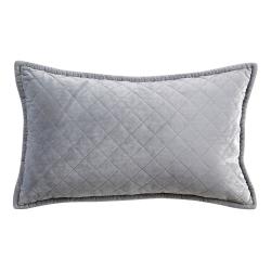Edmonton Cushion, 30 x 50cm, Silver Grey
