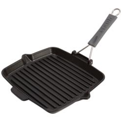 Square grill, 24cm, black