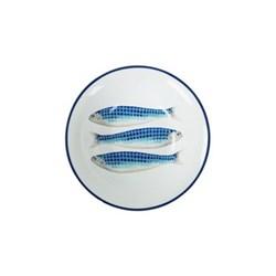 Harlequin Blue Set of 4 cereal bowls, 17cm, Harlequin Blue