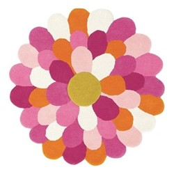 Funky Flower Rug, 140 x 140cm, pink