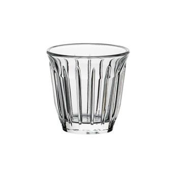 Zinc Set of 6 cups, 9cl, clear