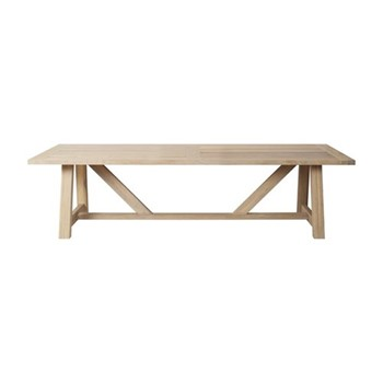6 seater rectangular table L245 x W100 x H73cm