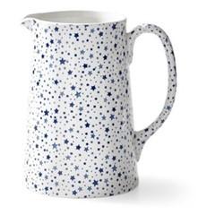 Burleigh - Midnight Sky Tankard pitcher, 21 x 17 x 20cm -975ml, light indigo