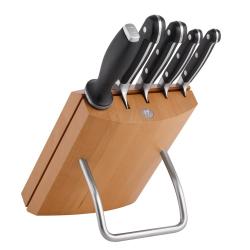 Pro Knife block set 6 piece, natural wood