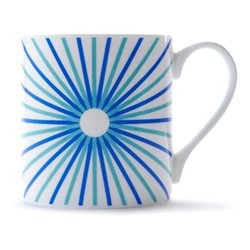Burst Mug, H9 x D8.5cm, blue/turquoise