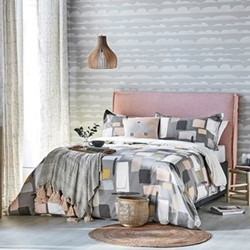 Composition Double duvet cover, L200 x W200cm, putty