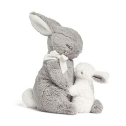 Forever Treasured Bunny & baby, grey & white