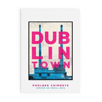 Dublin Town Collection - Poolbeg Chimneys Framed print, A3 size, multicoloured