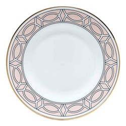 Loop Teaplate, 16.5cm, blush/white (gold rim)