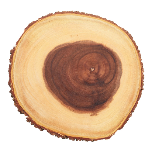 Small rustic serving board, D23 x H2cm, Wood
