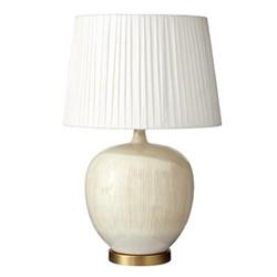 Pyaaz Table lamp, H34 x D28cm, cream ceramic