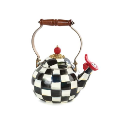 Courtly Check Whistling kettle, 2.3L, Black & White