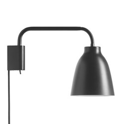 Caravaggio Read Wall lamp, H20.6 x L35cm, black