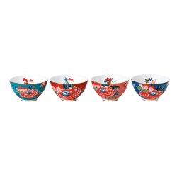 Paeonia Blush Set of 4 ice cream bowls