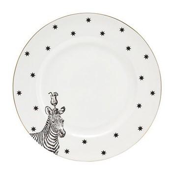 Zebra Set of 6 dinner plates, 26cm